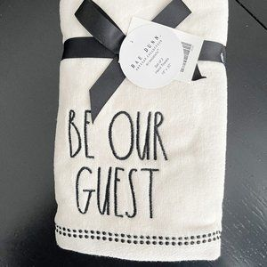 ✨ NWT Set of 2 Be Our Guest Hand Towels   Rae Dunn